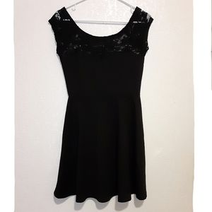 Ambiance Black Lace Sleeves Dress Size Medium